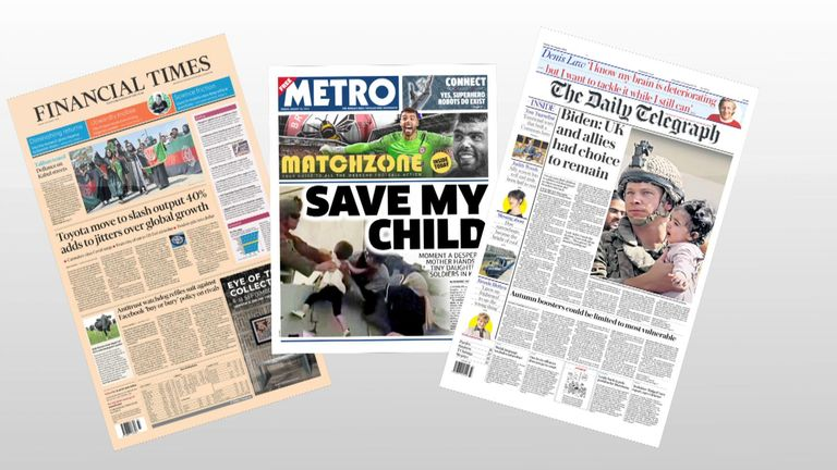 Friday's front pages
