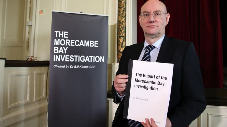 2015: Dr Bill Kirkup Chair of the Morecambe bay Investigation