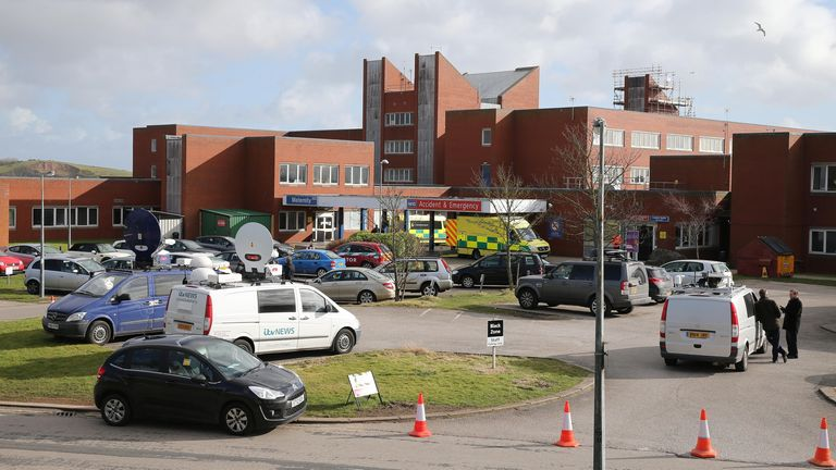 General view of Furness Hospital in Barrow, Cumbria which was at the heart of the Morecambe Bay Investigation