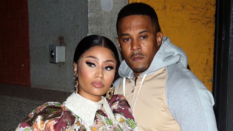 Nicki Minaj and Kenneth Petty pictured in February 2020. Pic: Rex/Broadimage/Shutterstock