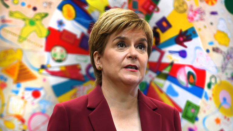 First Minister Nicola Sturgeon during a visit to the Connect Community Trust's Connie Centre in Glasgow