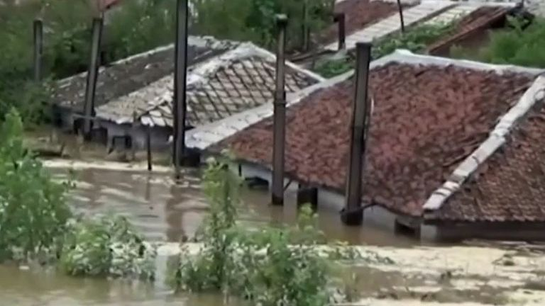 Over a thousand homes hit by flooding in North Korea