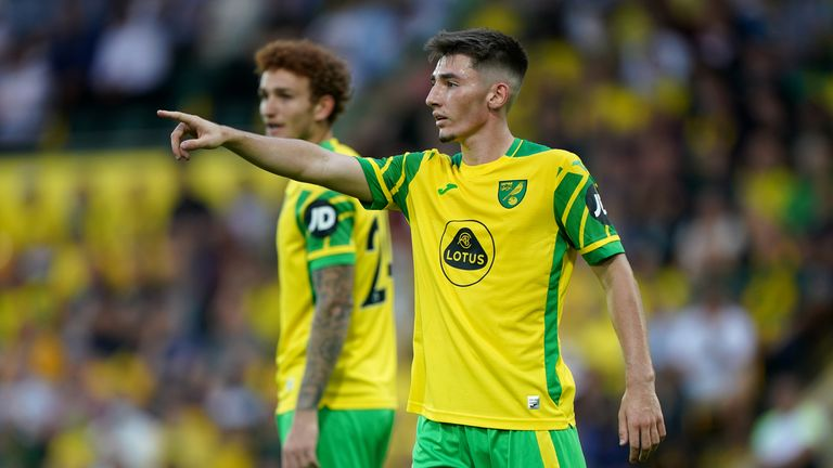 Billy Gilmour, 20, is on-loan to Norwich from Chelsea and made his debut against Liverpool in Saturday at Carrow Road