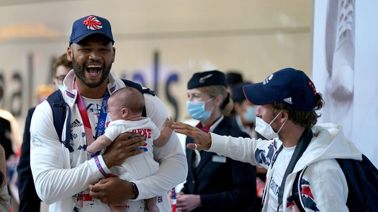 Frazer Clarke won bronze in his boxing class and was beaming when he landed in Heathrow