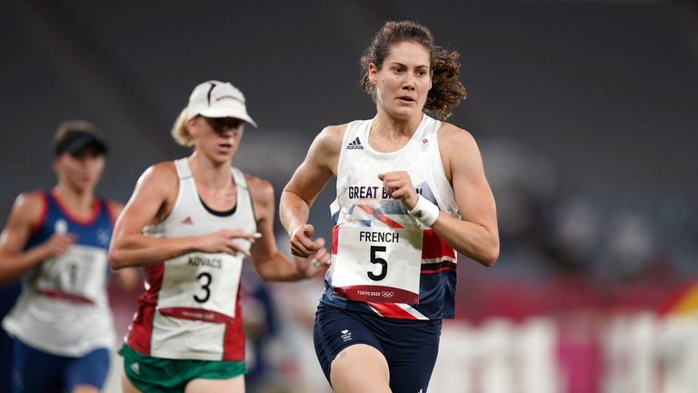 Great Britain's Kate French during the modern pentathlon