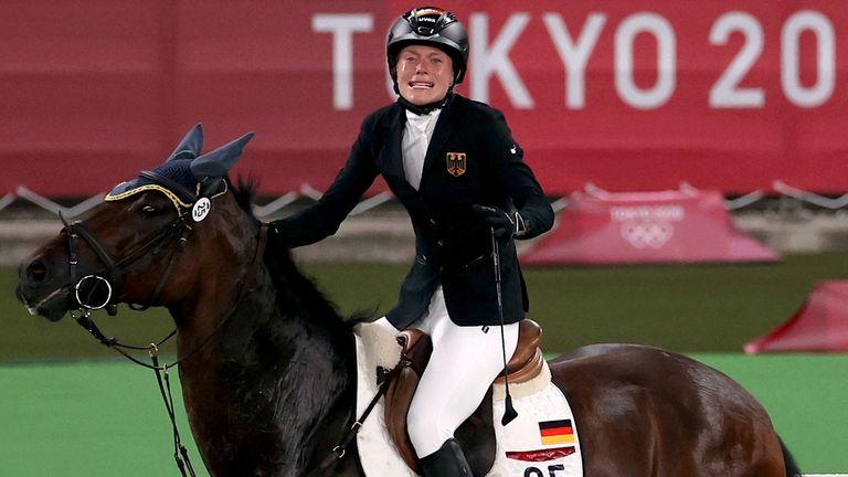 Annika Schleu at the Olympics.