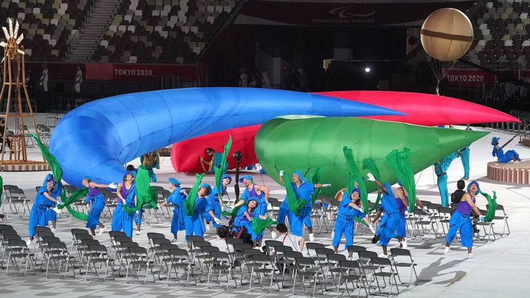 Performers during the opening ceremony