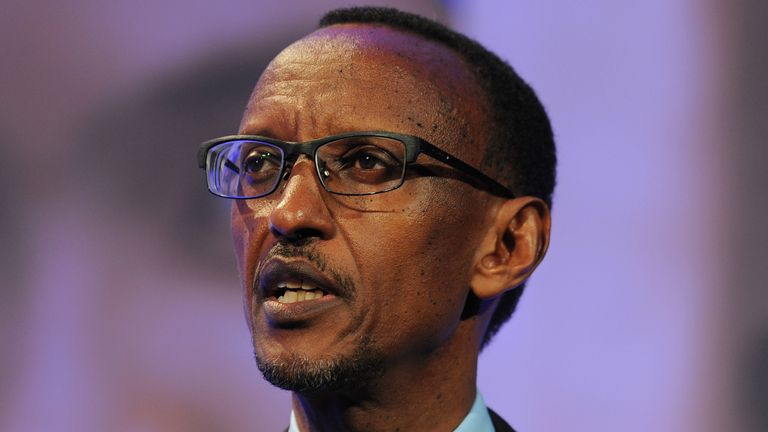 Paul Kagame, Rwanda's president since 1994, has regularly aired his views on Arsenal's performances