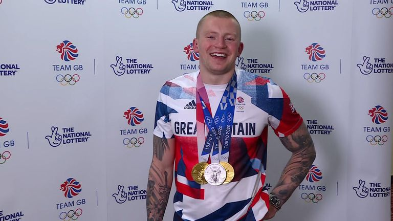 Double Olympic gold medallist Adam Peaty told Sky News he was taking an 'indefinite' amount of time off before focusing on Paris.