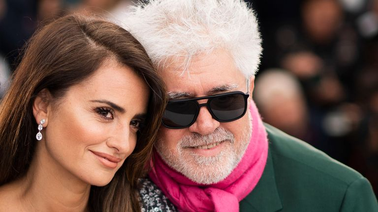 Actress Penelope Cruz and director Pedro Almodovar pictured at the photo call for Pain And Glory at Cannes Film Festival in 2019. Pic: Arthur Mola/Invision/AP