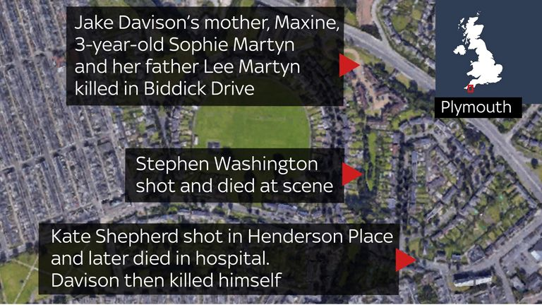 Plymouth shooting map
