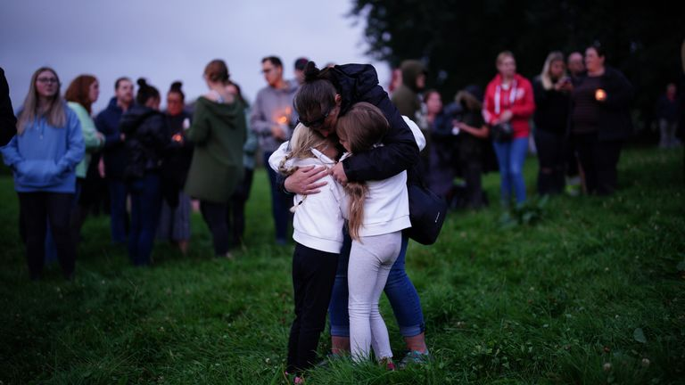 The vigil was held at a park in the Keyham area of Plymouth where the attack took place
