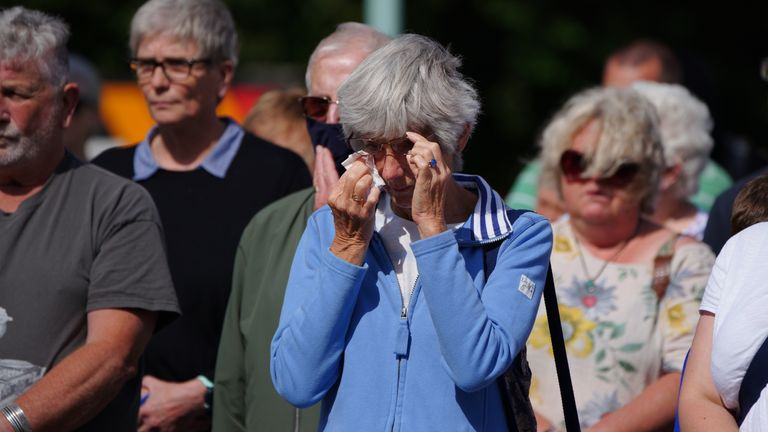 Plymouth residents observed a silence to remember those who died