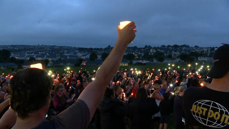 Vigil for victims of Plymouth shootings