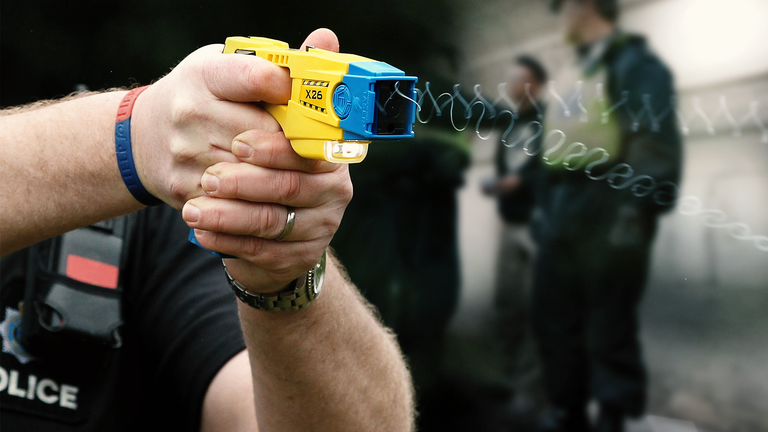Police forces have revealed the age range of people tasered by officers