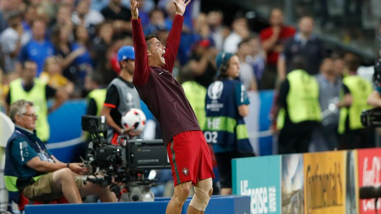 Ronaldo spurred Portugal onto win Euro 2016 from the sideline