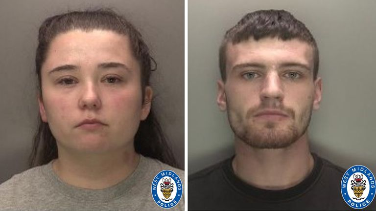 West Midlands Police undated handout photo of Nicola Priest and Callum Redfern. Priest has been convicted at Birmingham Crown Court alongside her then lover Redfern of the manslaughter of her three-year-old daughter Kaylee-Jayde Priest, after she was fatally assualted at home in August 2020. Issue date: Thursday August 5, 2021.