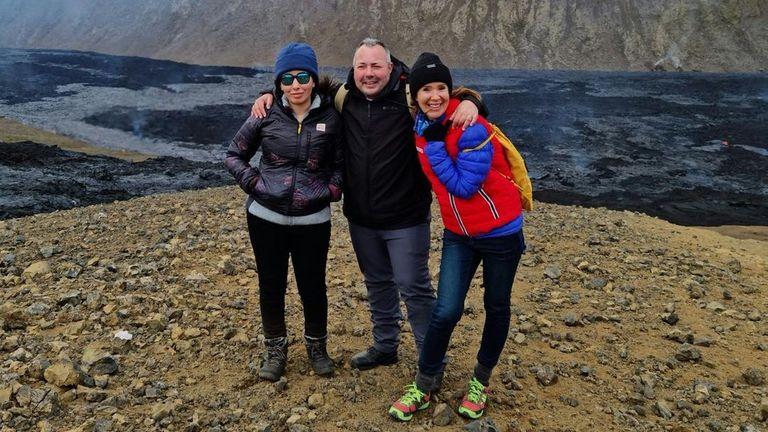 The latest image shows Princess Latifa standing with her long-term friend Sioned Taylor and her cousin Marcus Essabri in Iceland
