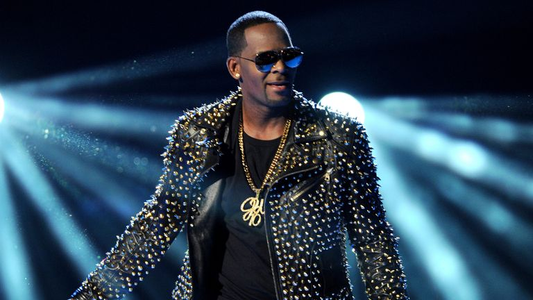 R Kelly performing at the BET Awards in LA in 2013. Pic: Frank Micelotta/Invision/AP