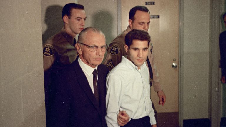In 1968 Sirhan shot RFK at the Ambassador Hotel in LA. Pic: AP