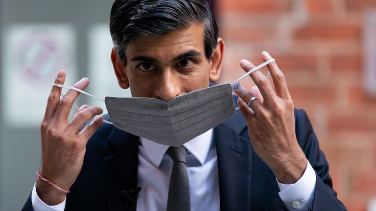 Chancellor of the Exchequer Rishi Sunak arrives at Wolverhampton Art Gallery, during a visit to Wolverhampton to mark the one-year anniversary of the Plan for Jobs. Picture date: Wednesday July 7, 2021.