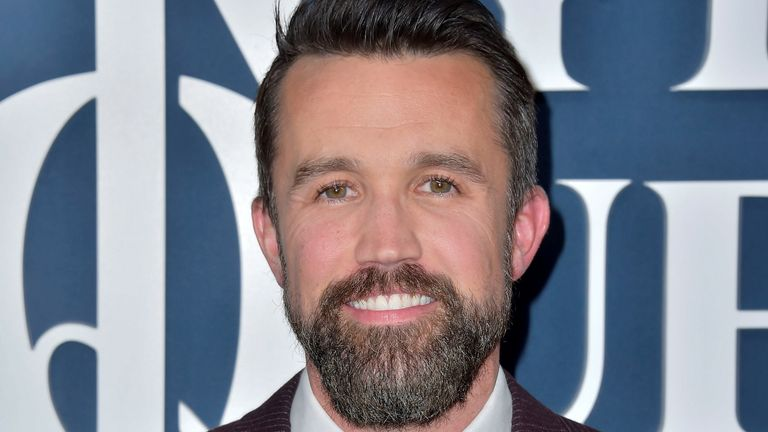 Rob McElhenney at the premiere of the Apple TV + series Mythic Quest: Raven's Banquet in Los Angeles in January 2020. Pic: Dave Starbuck/picture-alliance/dpa/AP