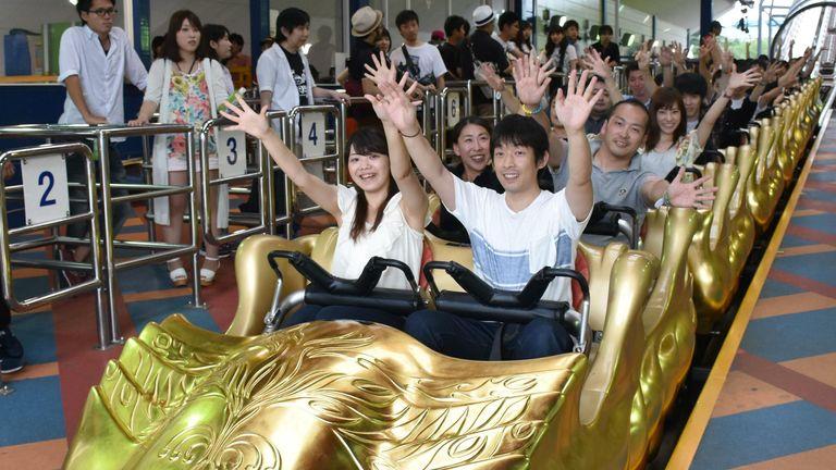 I visitatori dei parchi a tema Fuji-Q hanno riportato lesioni.  Foto: file AP