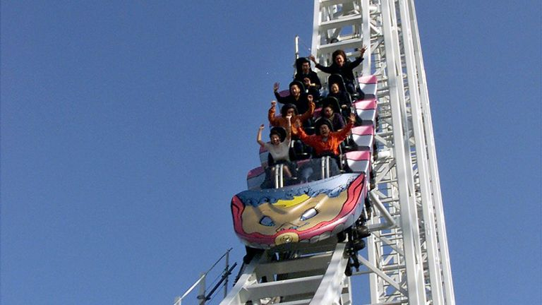 The rollercoaster boasted speeds of up to 112 miles per hour