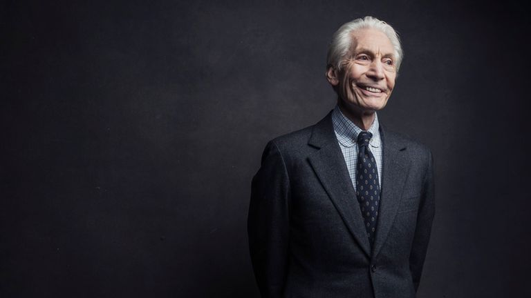 Charlie Watts of the Rolling Stones. Pic: AP