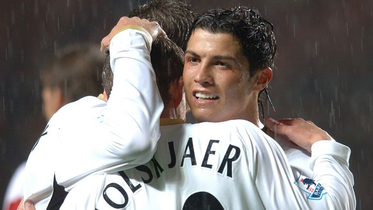 United's current manager, Ole Gunnar Solskjaer, played with Ronaldo in his first United spell