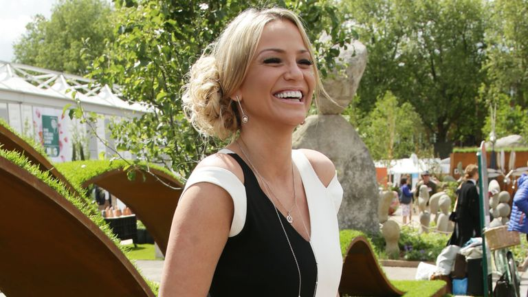 Sarah Harding attending the press day at the Chelsea Flower Show, Royal Hospital Chelsea, London. PRESS ASSOCIATION Photo. Picture date: Monday May 23, 2016. Photo credit should read: Yui Mok/PA Wire
