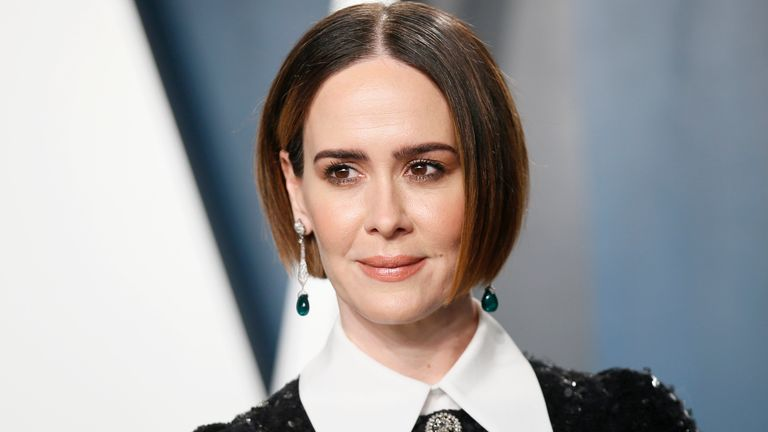 Sarah Paulson, pictured at the Vanity Fair Oscar party in Los Angeles in 2020, plays Linda Tripp in Impeachment: American Crime Story