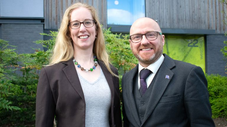 Undated file photo of Scottish Green Party co-leaders Patrick Harvie and Lorna Slater. The Scottish Greens are optimistic about growing the size of their group at Holyrood as the country heads to the polls this week. Issue date: Tuesday May 4, 2021.