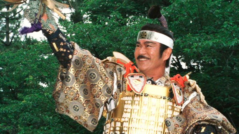 Chiba made his mark in Japan in the 1960s as samurai, fighters, and police detectives.  Image: Associated Press