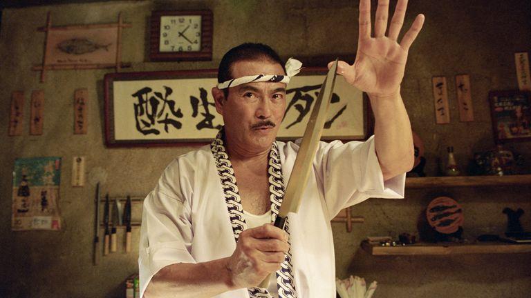 Quentin Tarantino cast Sonny Chiba forthe role of Hattori Hanzo, a master swordsmith, in Kill Bill