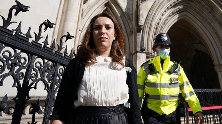 Assange's partner Stella Moris outside court