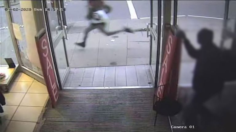 Sudesh Amman ran down Streatham High Road. Credit: Gardham/Met Police