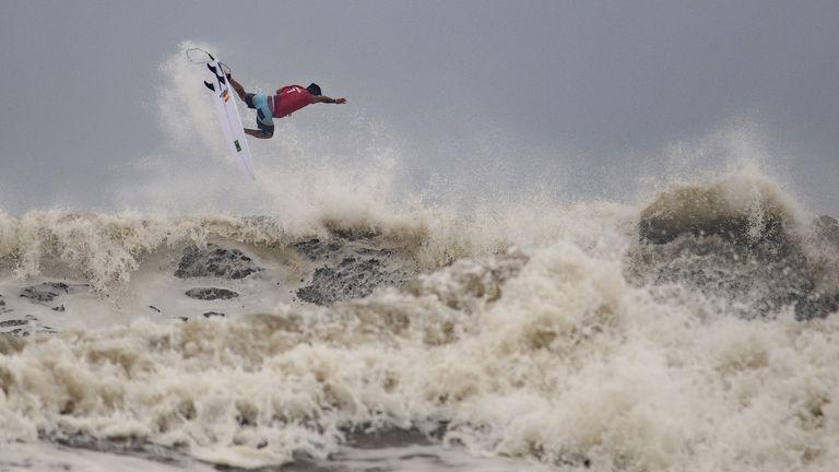 Brazil's Italo Ferreira won the men's surfing