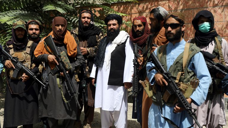 Groups of armed Taliban fighters have been patrolling the streets of Kabul. Pic: AP