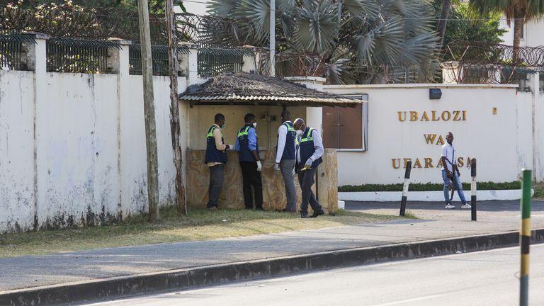 The scene in Dar es Salaam