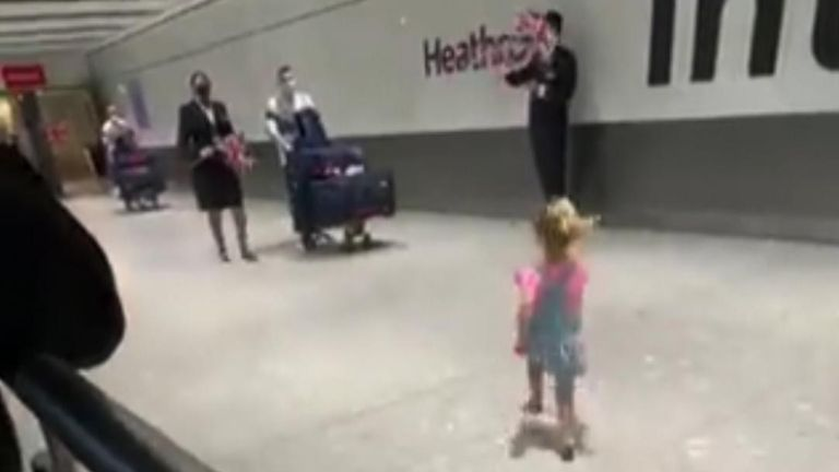 Gymnast Max Whitlock, who won gold in the men's pommel horse, was surprised by his daughter and family on return to Heathrow.