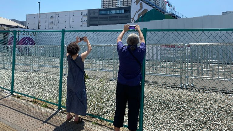 Barred from the stadiums, spectators have had to find other ways to watch the Games