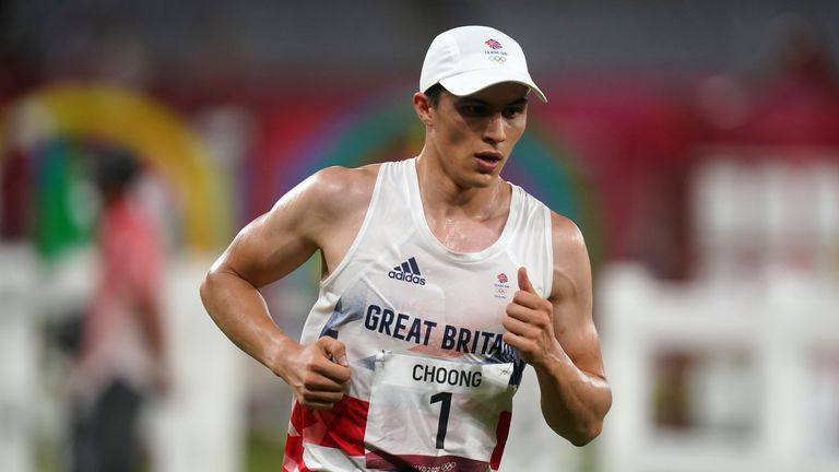 Joe Choong of Great Britain during the Modern Pentathlon,