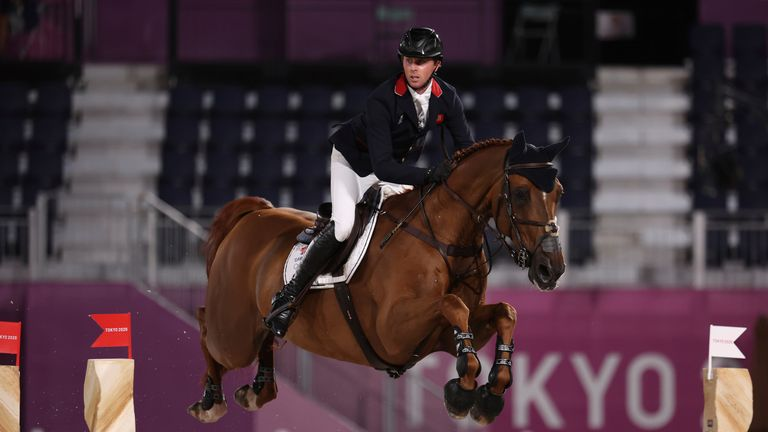 Ben Maher from Great Britain on Explosion W. Pic: AP