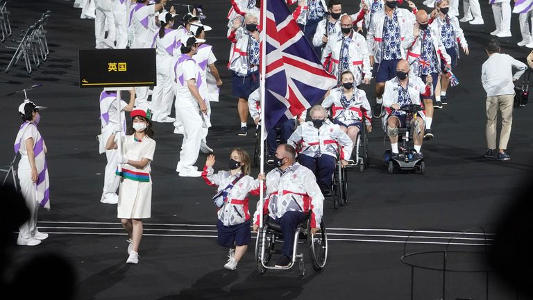Team Great Britain arrives at the Olympic Stadium. Pic: AP