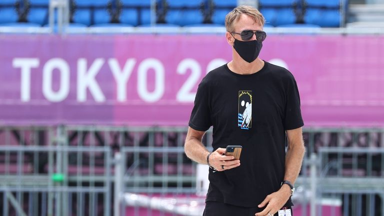 Tony Hawk flew to Tokyo to cheer on competitors after skateboarding became an Olympic sport for the first time