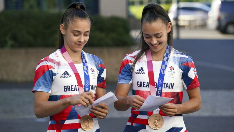 Jessica (left) and Jennifer were pleased with their results which followed a bronze medal in Tokyo
