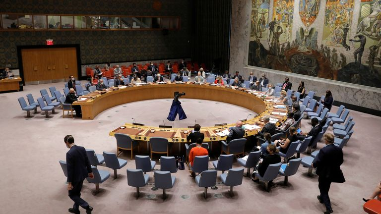 The United Nations Security Council meets regarding the situation in Afghanistan