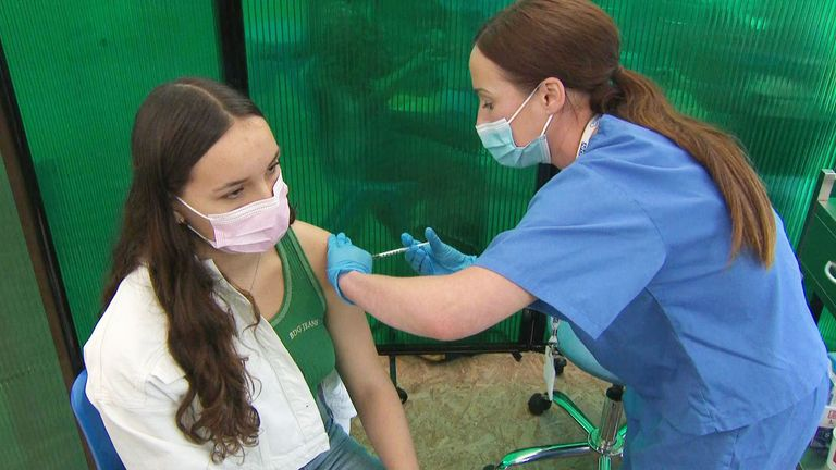 Under 16 and 17 year olds have started receiving their COVID jabs.