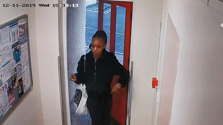 CCTV shows Kudi returning to her flat on 11 December
